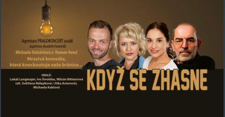 KDYŽ SE ZHASNE - divadelní komedie