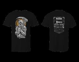 Dámské tričko ROA - černé se zlatým
