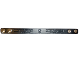 Kožený náramek úzký černý MOA