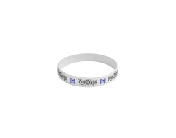 Silikonový náramek ROA - bílý