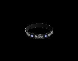 Silikonový náramek ROA - černý