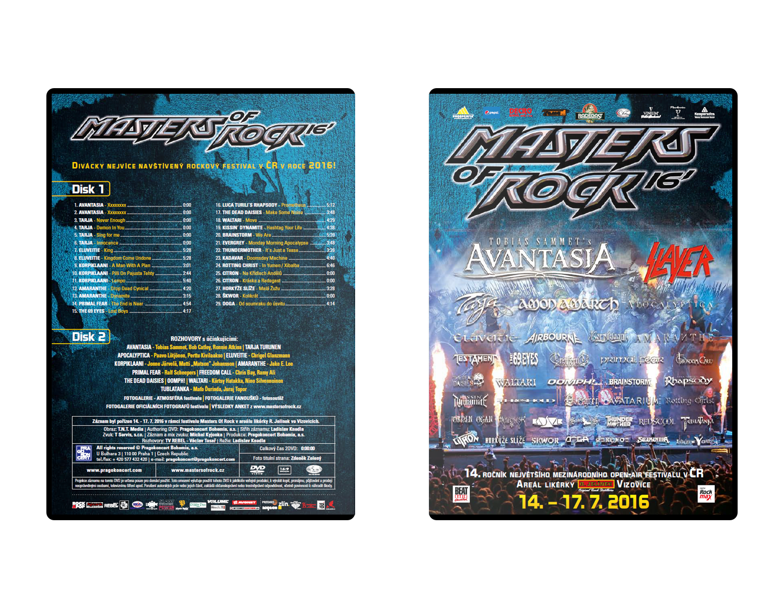 Double DVD Masters of Rock 2016