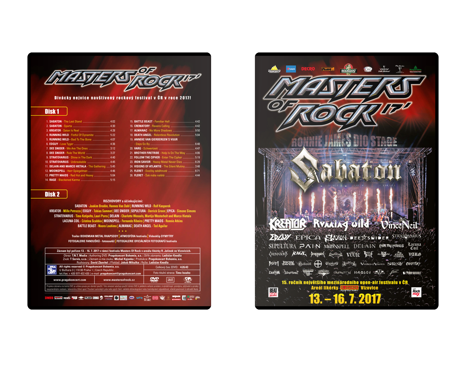 Double DVD Masters of Rock 2017