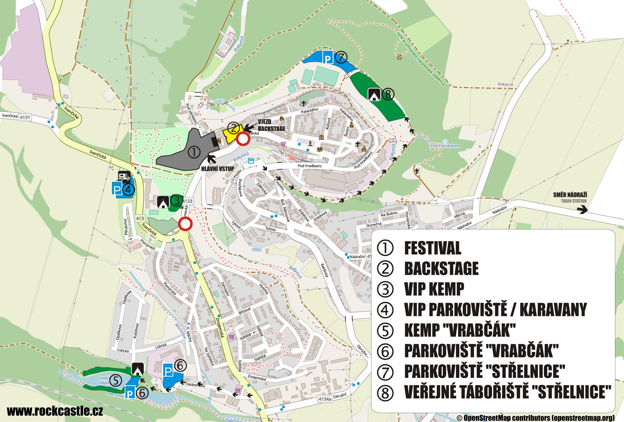 2021 - Rock Castle - V.I.P. kemp - parkování